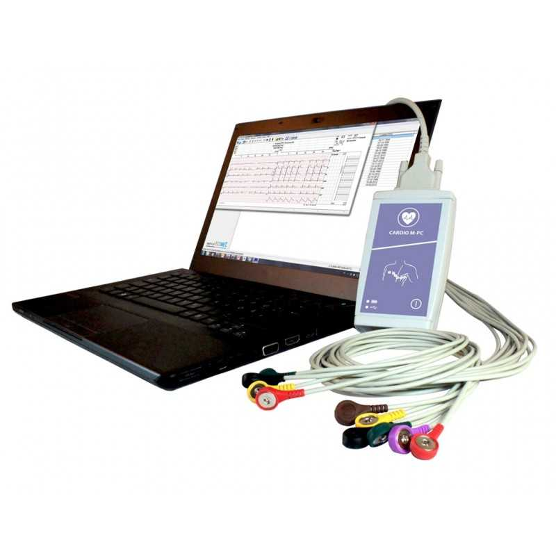 Cardio M-PC USB 12-Kanal Ruhe-PC-EKG mit GDT