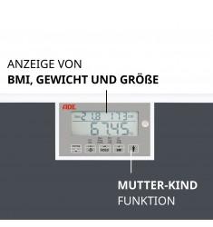 Personenwaage ADE M320600 mit BMI-Funktion bis 250 kg