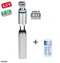 KaWe Laryngoskop F.O. Ladegriff, 3,5V inkl. Akku für Steckdose