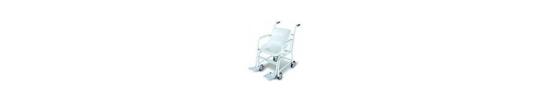Mobile Stuhlwaage mit vier Rädern sowie Eich- und Medizinzulassung
