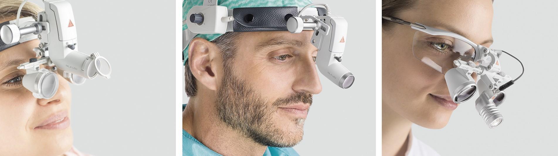 Medizinische Binokularlupen und Kopfleuchten